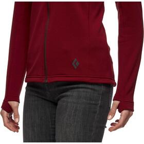 Black Diamond Coefficient Fleece Hoody Women, rojo